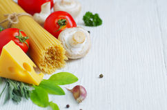 Ingredients of traditional Italian cuisine Royalty Free Stock Photos