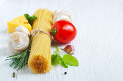 Ingredients of traditional Italian cuisine Stock Photo