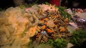 Ingredients for traditional thai cuisine and fresh stock video footage