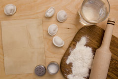 Ingredients unleavened dough Stock Photos