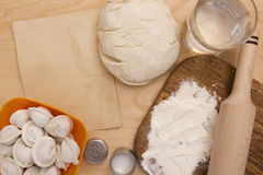 Ingredients unleavened dough Stock Images