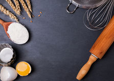 Ingredients and utensils for baking Stock Image