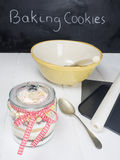 Ingredients and utensils for baking cookies Stock Photography