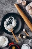 Ingredients and utensils for baking. royalty free stock photo