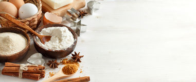 Ingredients and utensils for baking Royalty Free Stock Photo