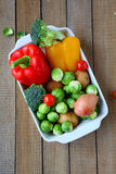 Ingredients for vegetable casseroles Royalty Free Stock Images