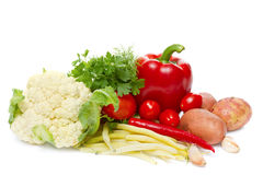 Ingredients for a vegetable stew Royalty Free Stock Photography