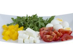 Ingredients for a vegetarian salad . stock photos