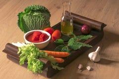Ingrediënten voor Italiaanse saus Stock Afbeeldingen