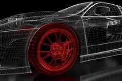 ingrepp för bil 3D på en svart vektor illustrationer