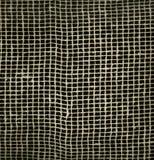 Ingrepp för kanfas för Textureof tygsäckväv naturligt brunt på svart bakgrund bakgrund för makrotexturmodell Royaltyfria Bilder
