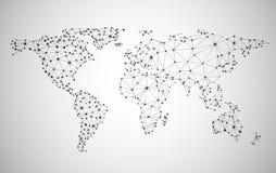 Ingrepp för globalt nätverk Jord Map Royaltyfria Foton