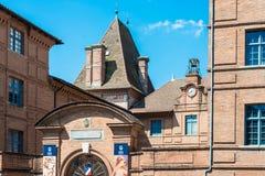Ingres Muzealna fasada w Montauban, Francja zdjęcia stock