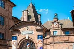 Ingres Muzealna fasada w Montauban, Francja zdjęcia royalty free