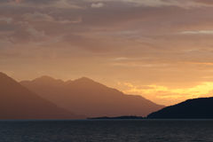 Ingresso Alaska del cuoco Fotografie Stock