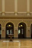 Ingresso di Galerie Rudolfinum, Praga, repubblica Ceca Immagini Stock Libere da Diritti