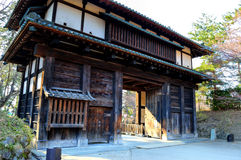 Ingresso di Gardem del castello di Hirosaki fotografia stock
