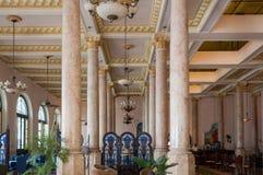 Ingresso di Raquel Hotel a vecchia Avana immagini stock