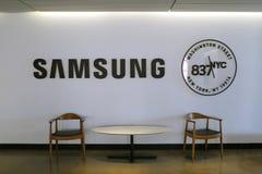 Ingresso di Samsung nella costruzione di NYC fotografia stock