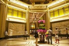 Ingresso lussuoso dell'hotel di pace a Shanghai immagini stock libere da diritti