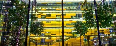 Ingresso moderno dell'interiore della costruzione Immagine Stock Libera da Diritti