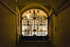 ingresso nella città di St Petersburg nella notte Fotografie Stock