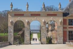 Ingresso storico al palazzo Vaux-Le-Vicomte fotografie stock libere da diritti