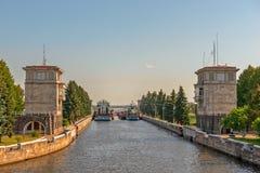 Ingresso sul canale di Mosca, Russia Fotografia Stock Libera da Diritti