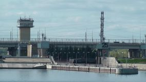 Ingresso sul fiume Volga stock footage