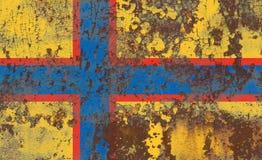 Ingrian grunge flag, Finland dependent territory flag.  Stock Image