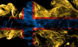 Ingrian smoke flag, Finland dependent territory flag. On a black background Stock Photography