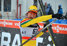 Ingrida Ardisauskaite at the FIS Cross-Country  World Cup Royalty Free Stock Photos
