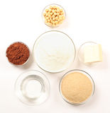 Ingridients for homemade chocolate stock photography