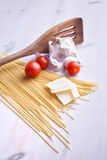 Italian pasta meal stock photography