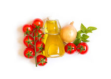 Ingridients for italian tomato sauce Royalty Free Stock Photography