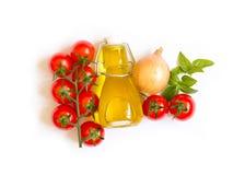 Ingridients per salsa al pomodoro italiana Fotografia Stock Libera da Diritti