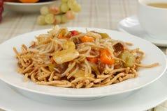 Ingrossi il cibo Mein Fotografia Stock