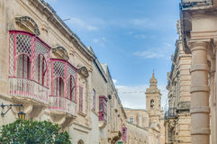 Inguanez house in Mdina, Malta Stock Photography