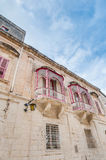 Inguanez house in Mdina, Malta Royalty Free Stock Images