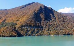 Inguri flod i Georgia Arkivfoton