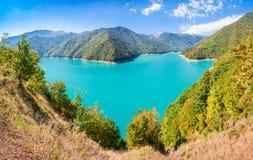 Inguri reservoir, Georgia Royalty Free Stock Photo