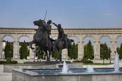 Ingushetia, Magas, 27 Juni 2018, het gloriegedenkteken, een monument aan de militairen van het hoofdartikel royalty-vrije stock afbeeldingen