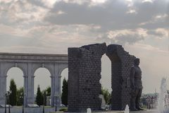 Ingushetia, Magas, o 27 de junho de 2018, o memorial da glória, um monumento aos soldados do editorial Foto de Stock