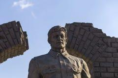 Ingushetia, Magas, o 27 de junho de 2018, o memorial da glória, um monumento aos soldados do editorial Imagem de Stock
