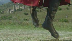 Ingushetian Hillman Performs National Folk Dance in Slow Motion stock video