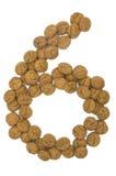 Ingwer-Nuts Zahl neun stockfotos