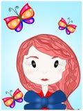 Ingwer und der Schmetterling Stockfotos