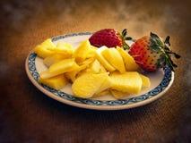 Ingwer und Erdbeeren Stockfotografie