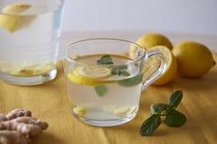 Ingwertee mit Zitrone lizenzfreie stockfotos