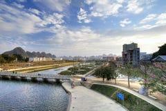 Ingxi, um condado chinês com o estilo vietnamiano, situado na beira de China e de Vietname Foto de Stock Royalty Free